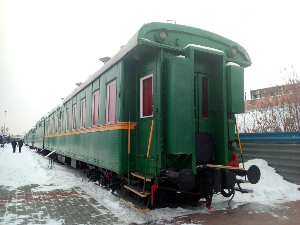 Челябинск. Бронированный вагон-салон Владикавказской железной дороги, эксплуатировался до 2003 года (в качестве служебного вагона НОД Златоустовского отделения, передвижного вагона-музея)