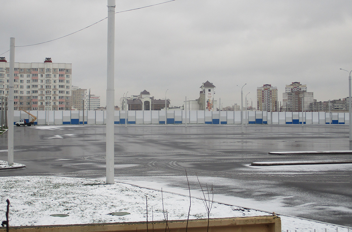 Минск. Состояние готовности будущего парка в Уручье