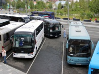 Москва. Mercedes-Benz O580 Travego к380хс, King Long XMQ6129Y о062ра, Andecar Viana м843хв