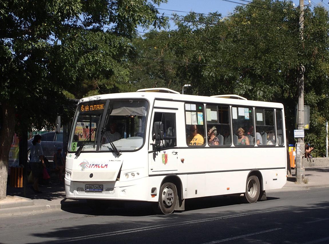 Евпатория. ПАЗ-320302-12 Вектор в667сн