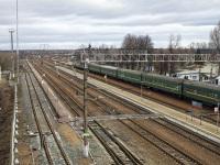 Брянск. Поезд № 048 Кишинёв — Москва на станции Суземка