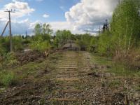 Алапаевск. Остатки подъездного пути Верхнесинячихинского металлургического завода (вид в сторону завода)