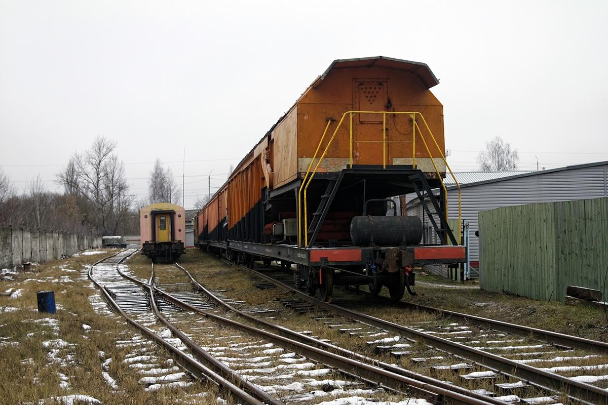 Брянск. Снегоуборочный поезд СМ2