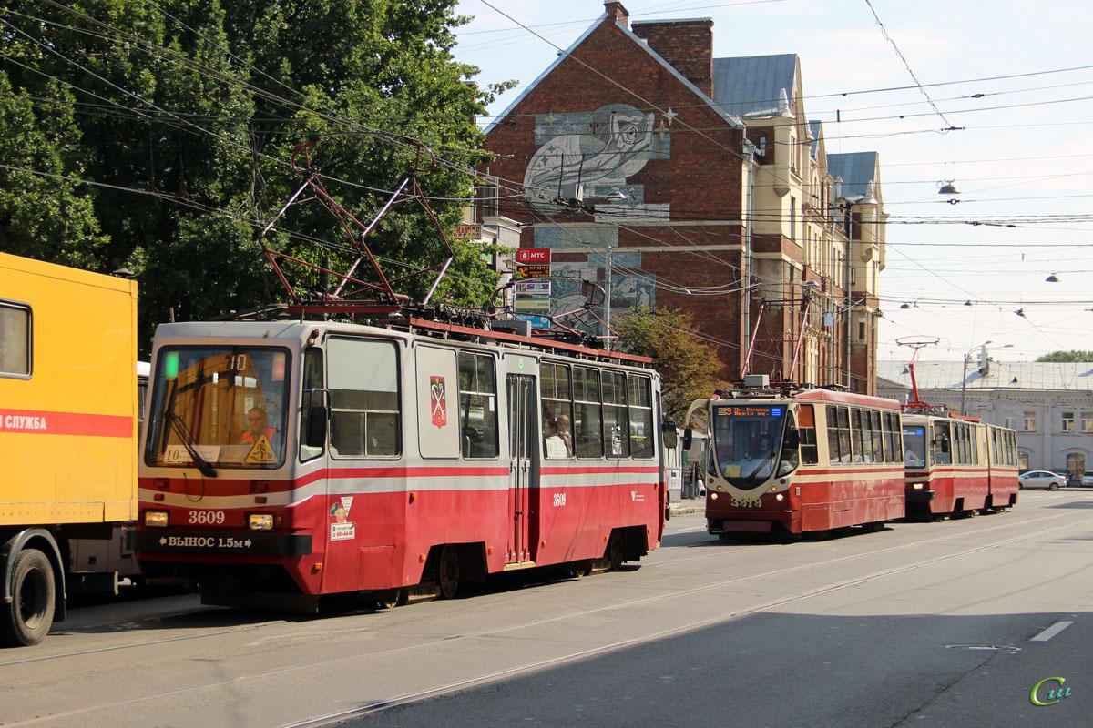 Санкт-Петербург. 71-134А (ЛМ-99АВН) №3919, ЛВС-86К №3047, ТС-77 №3609