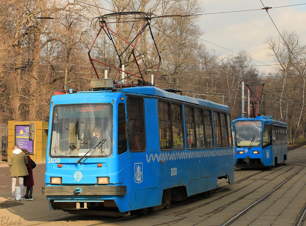 Москва. 71-134А (ЛМ-99АЭ) №3030, 71-619А (КТМ-19А) №30738
