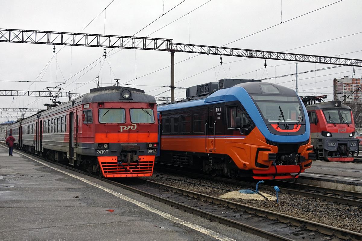 Брянск. ЭД9Т-0012, ЭП20-055, РА3-015