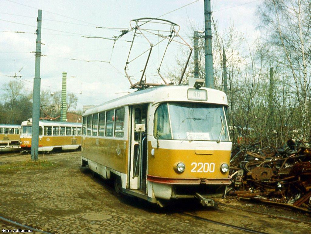 Москва. Tatra T3 (двухдверная) №2200, Tatra T3SU №5132
