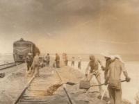 Атырау. Строительные работы на железнодорожной линии Кандагач-Гурьев