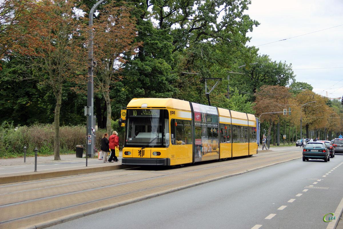Дрезден. SachsenTram NGT6DD №2545