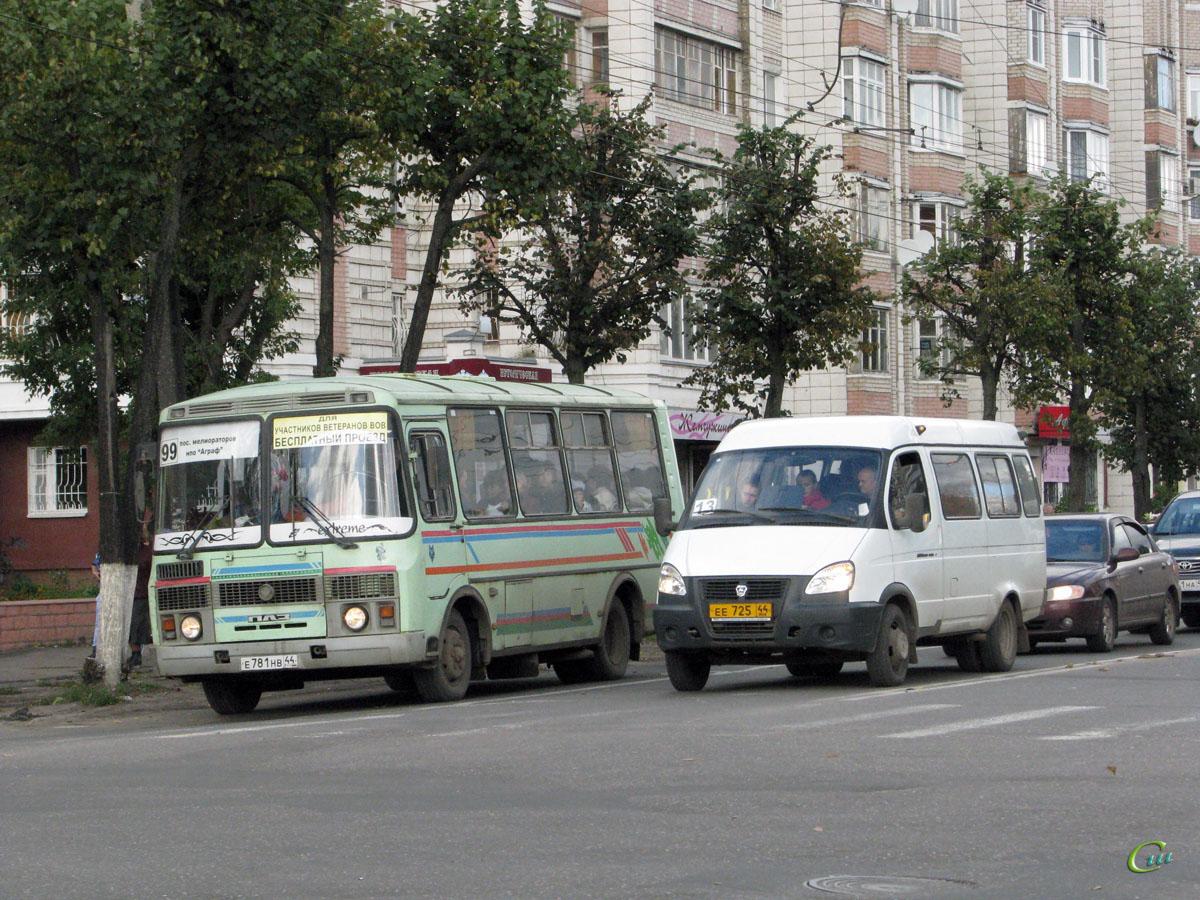 Кострома. ПАЗ-32054-07 е781нв, ГАЗель (все модификации) ее725