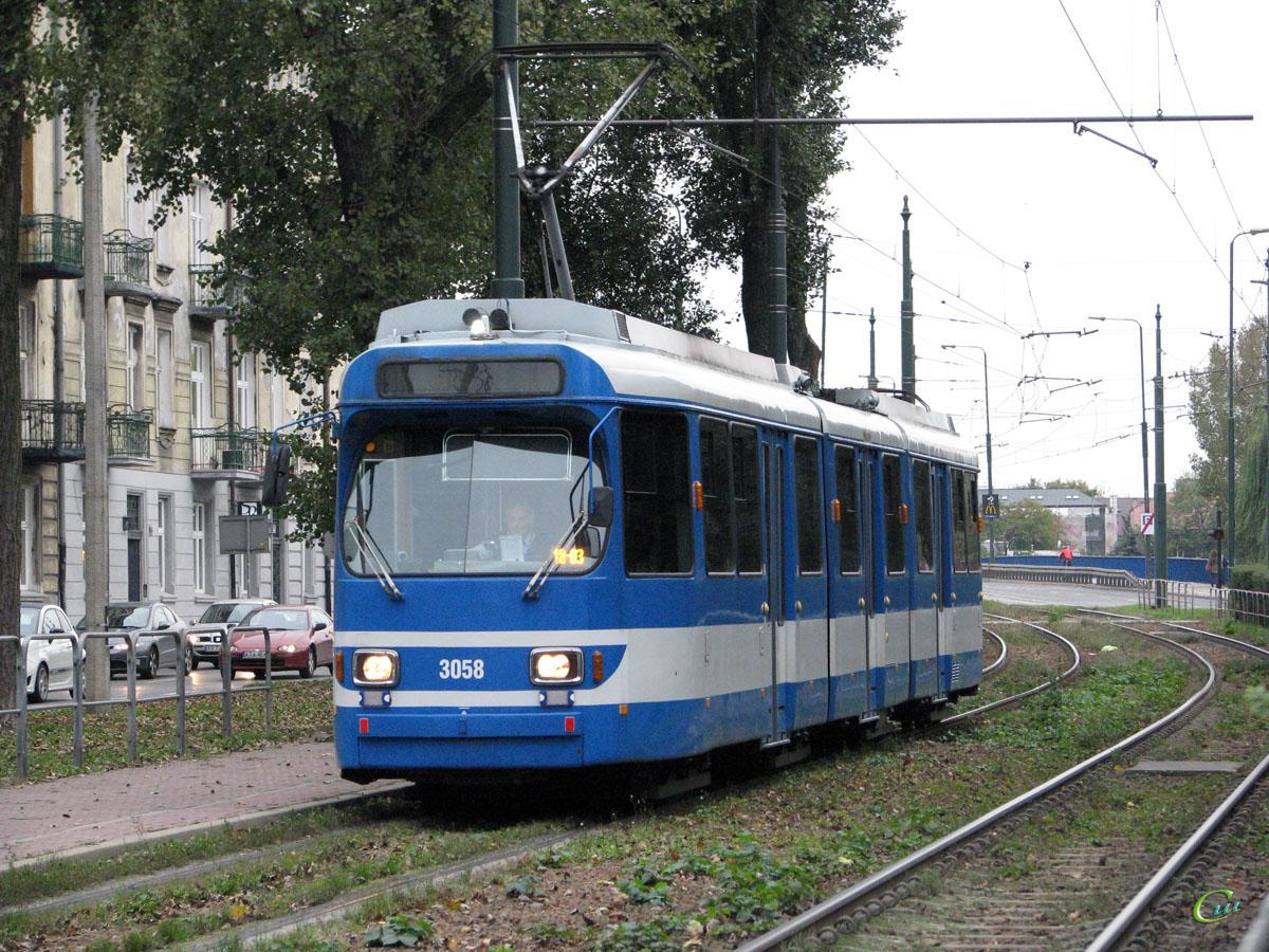 Краков. Duewag GT8S №3058