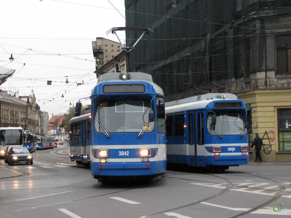 Краков. Duewag GT8S №3042, Duewag GT8S №3059