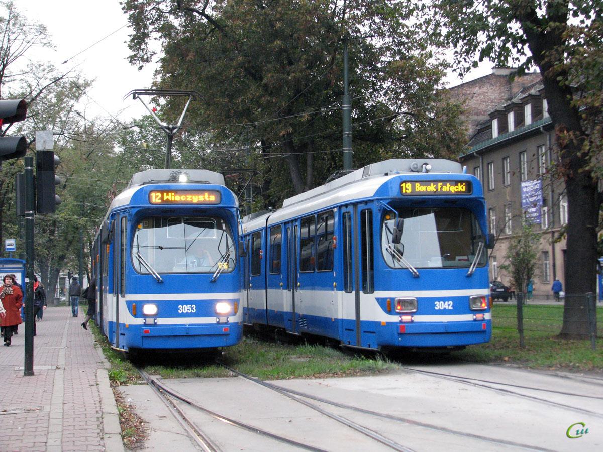 Краков. Duewag GT8S №3042, Duewag GT8S №3053