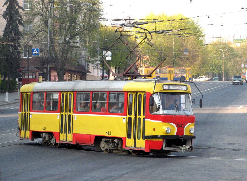 Винница. Tatra T4SU №143