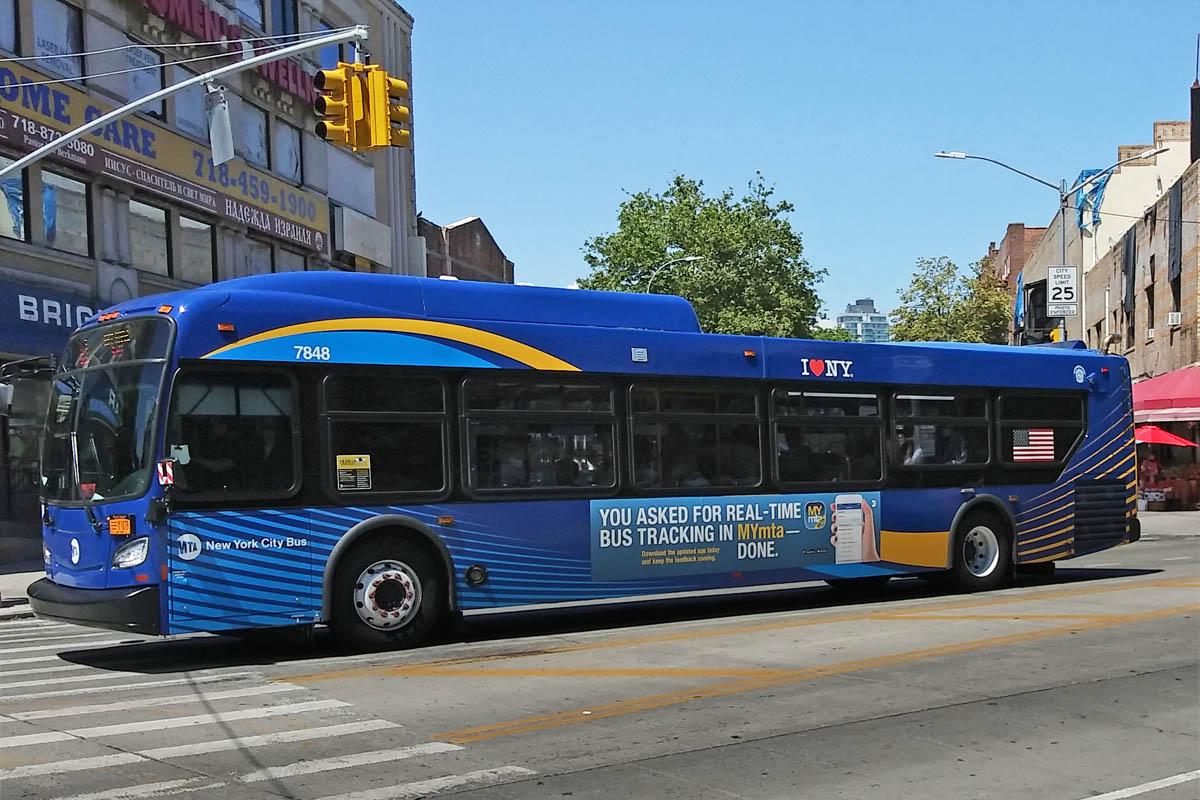 Нью-Йорк. New Flyer XD40 BC1079