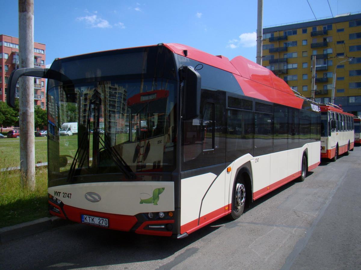Вильнюс. Solaris Trollino IV 12 Škoda №2747