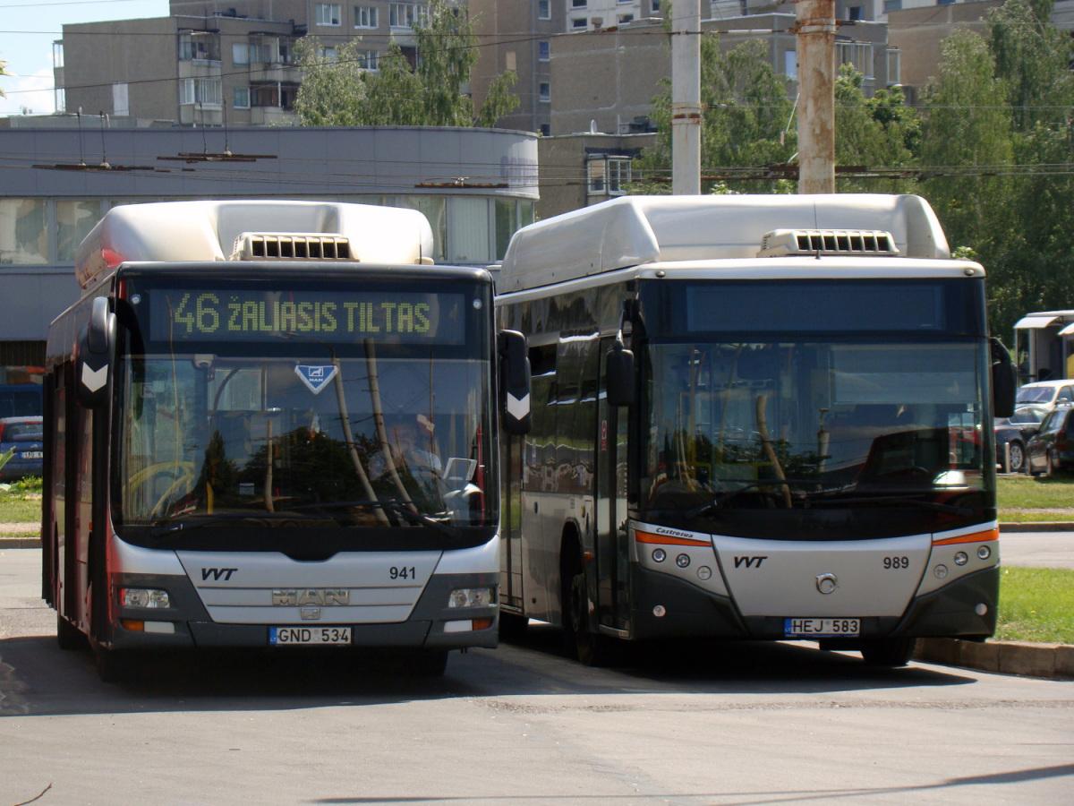 Вильнюс. MAN A21 Lion's City NL273 CNG GND 534, Castrosúa City Versus CNG HEJ 583