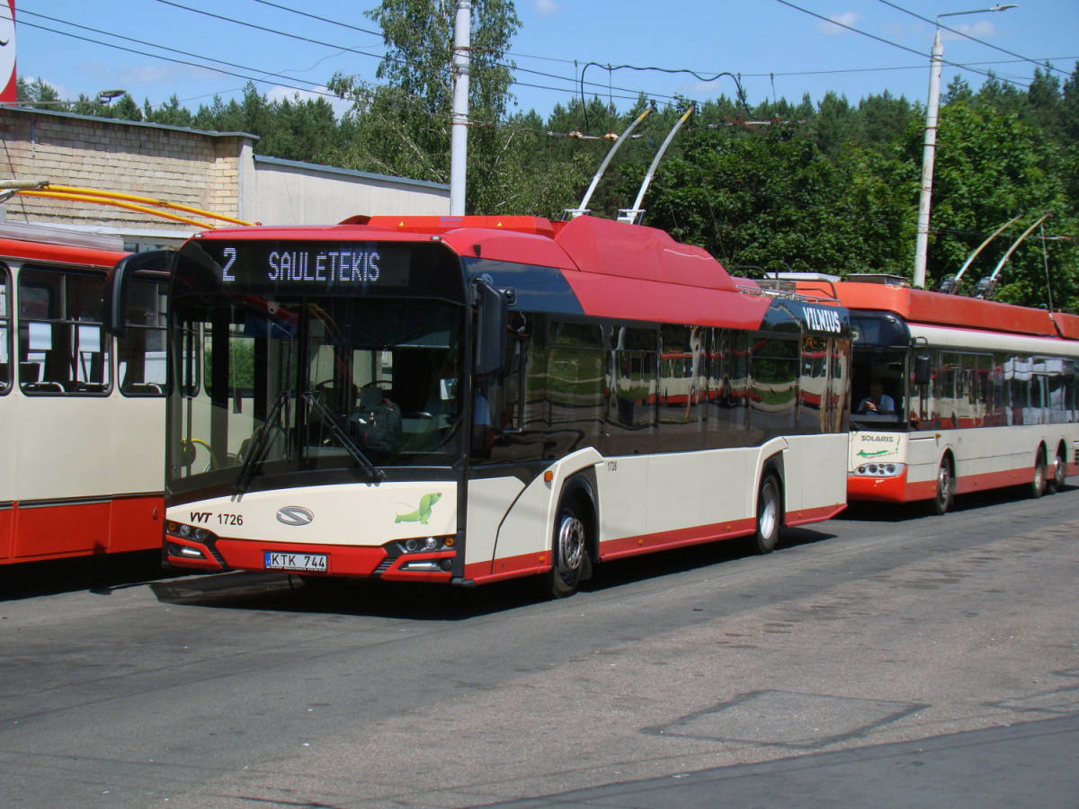 Вильнюс. Solaris Trollino IV 12 Škoda №1726