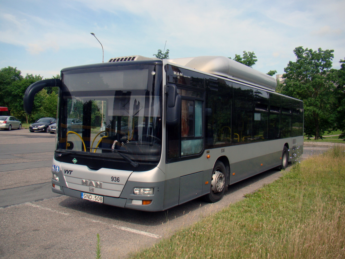 Вильнюс. MAN A21 Lion's City NL273 CNG GND 508