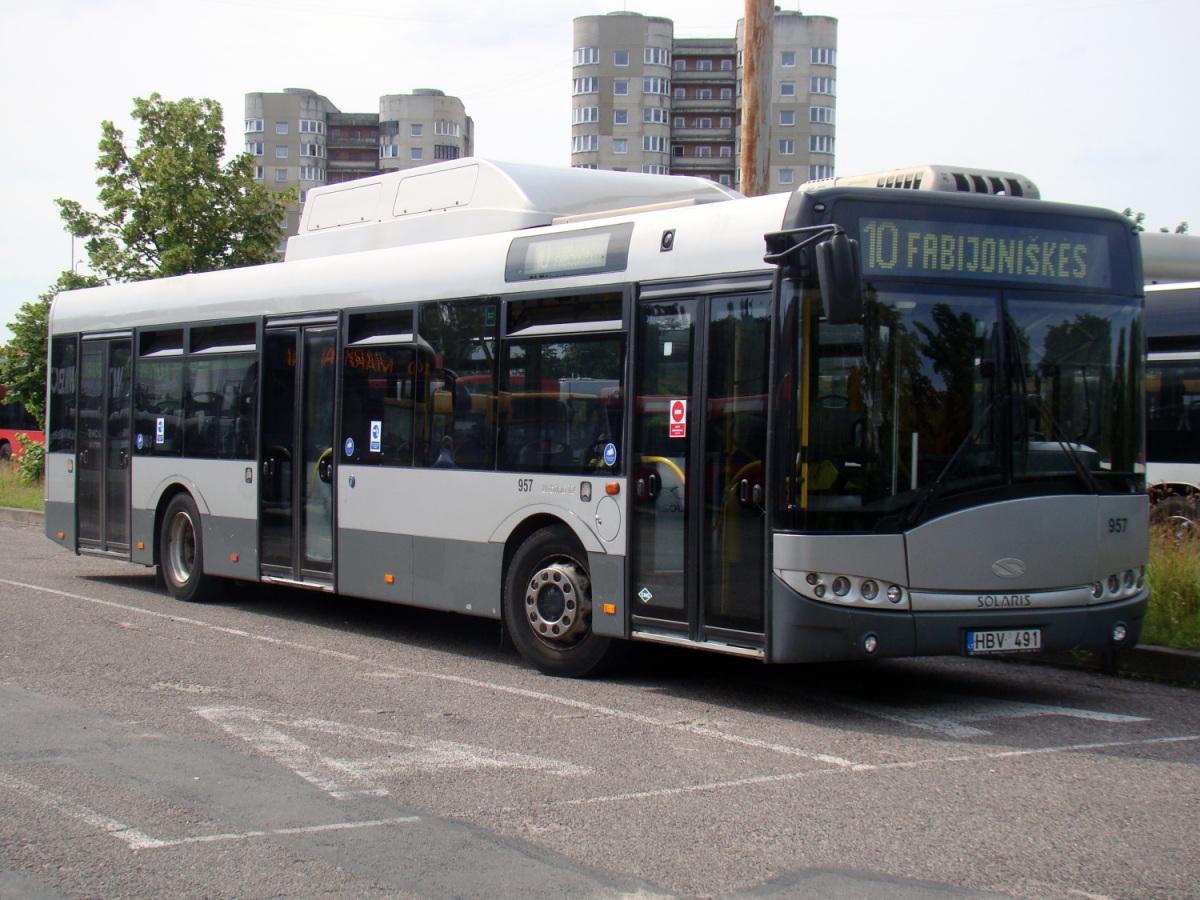 Вильнюс. Solaris Urbino 12 CNG HBV 491