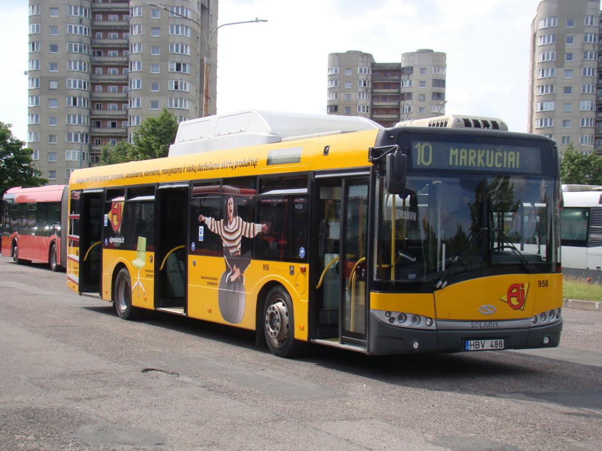 Вильнюс. Solaris Urbino 12 CNG HBV 488
