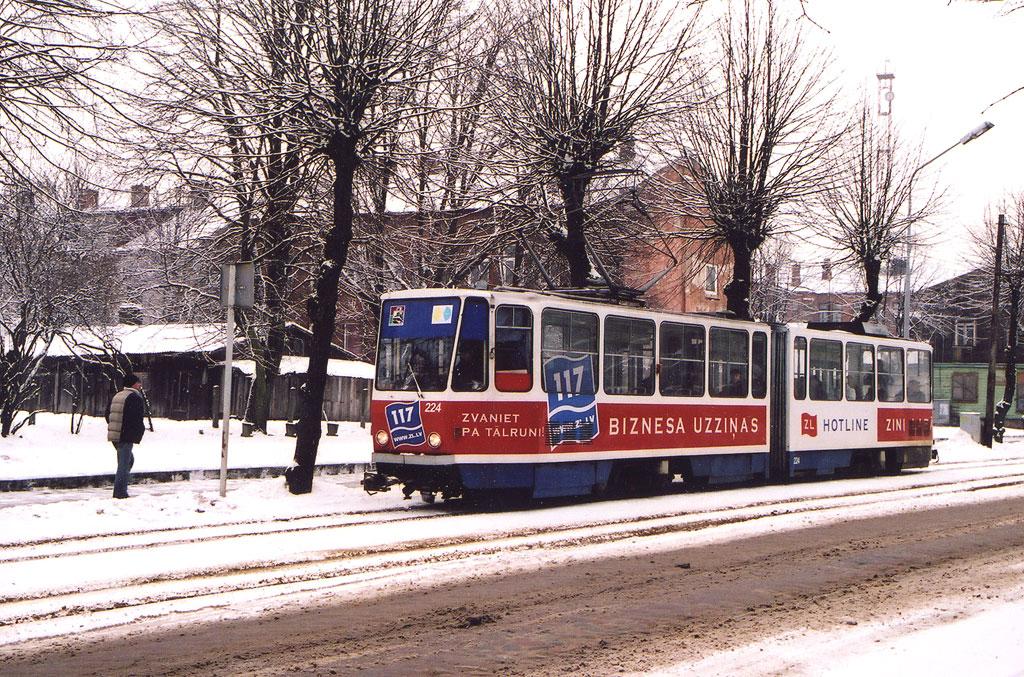 Лиепая. Tatra KT4SU №224