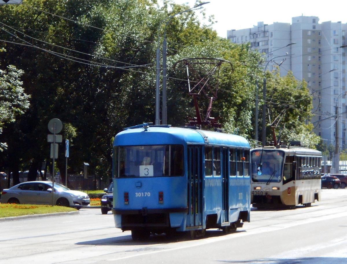 Москва. Tatra T3 (МТТЧ) №30170