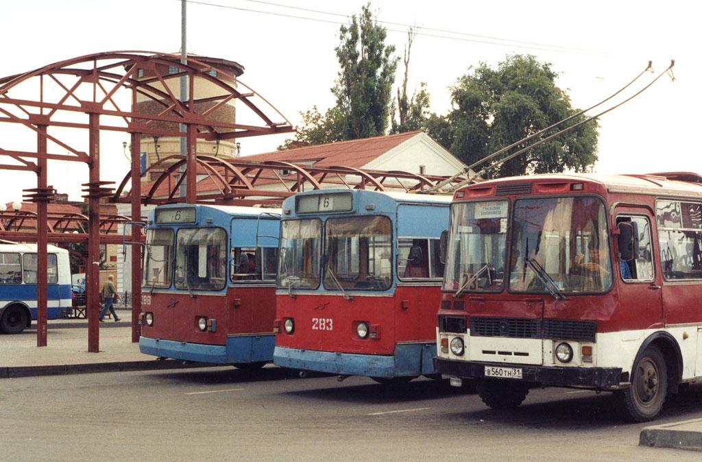 Белгород. ЗиУ-682В-012 (ЗиУ-682В0А) №283, ПАЗ-3205 в560тн, ЗиУ-682В-012 (ЗиУ-682В0А) №288
