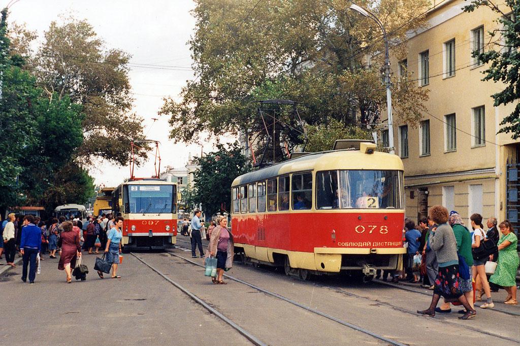 Орёл. Tatra T3SU №078, Tatra T6B5 (Tatra T3M) №097