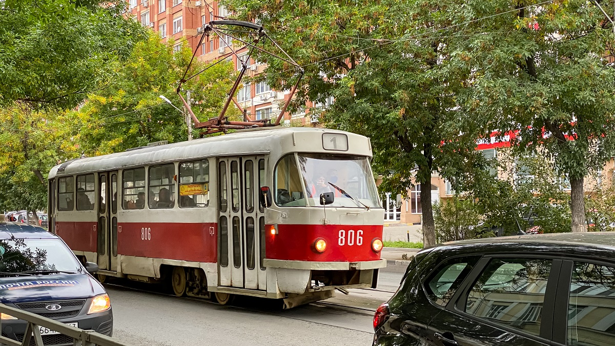 Самара. Tatra T3SU №806