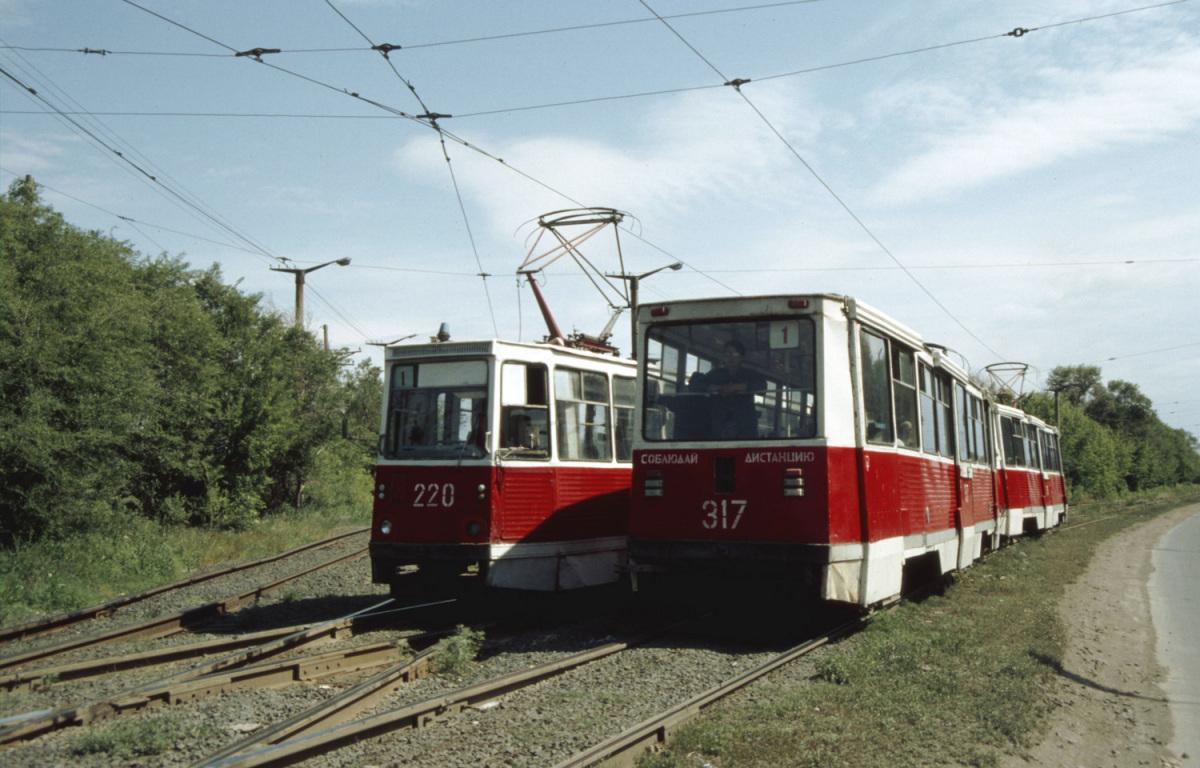 Орск. 71-605 (КТМ-5) №220, 71-605 (КТМ-5) №316, 71-605 (КТМ-5) №317
