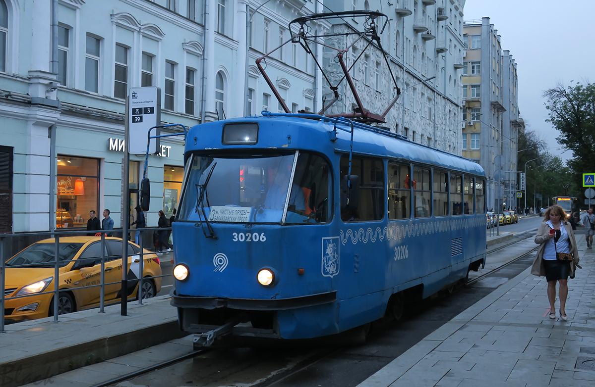 Москва. Tatra T3 (МТТЧ) №30206