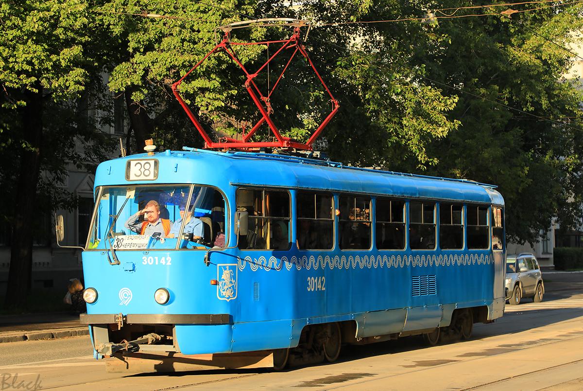 Москва. Tatra T3 (МТТЧ) №30142