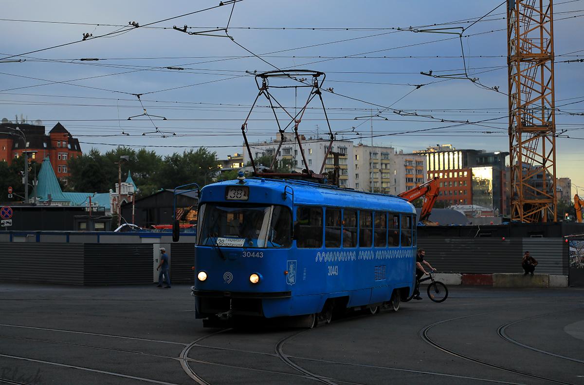 Москва. Tatra T3 (МТТЧ) №30443