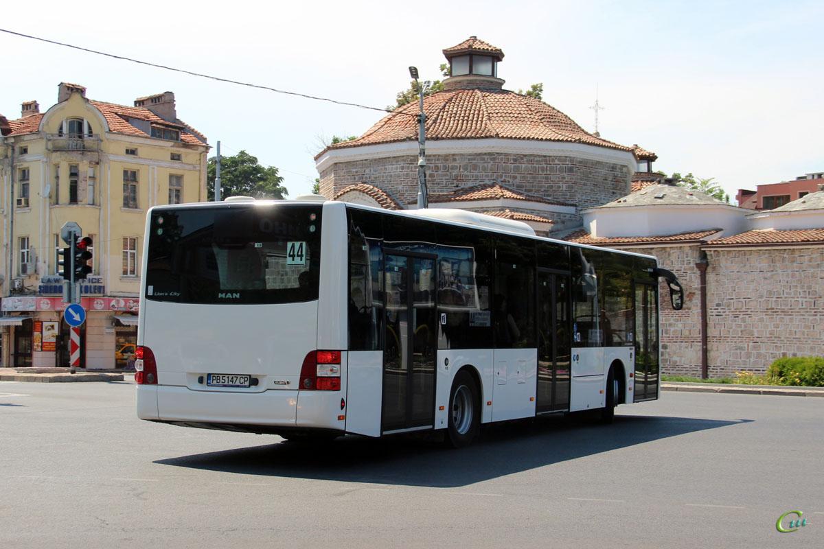 Пловдив. MAN A37 Lion's City NL293 PB 5147 CP
