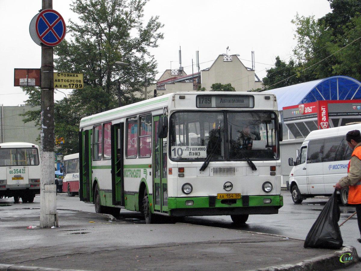 Пушкино. ЛиАЗ-5256.25 аа154, ПАЗ-32054 ее354