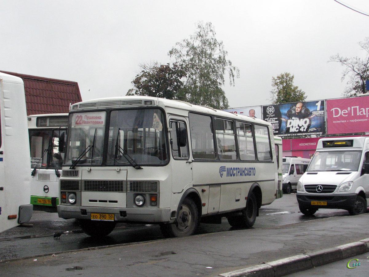 Пушкино. Луидор-2234 (Mercedes-Benz Sprinter 515CDI) ах275, ПАЗ-32054 ео390, ЛиАЗ-5256.25 аа136