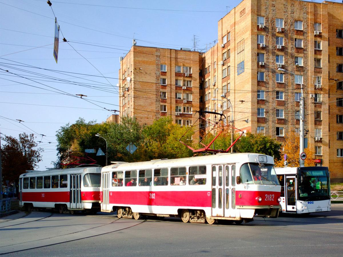 Самара. Tatra T3 (двухдверная) №2182, Tatra T3 (двухдверная) №2183