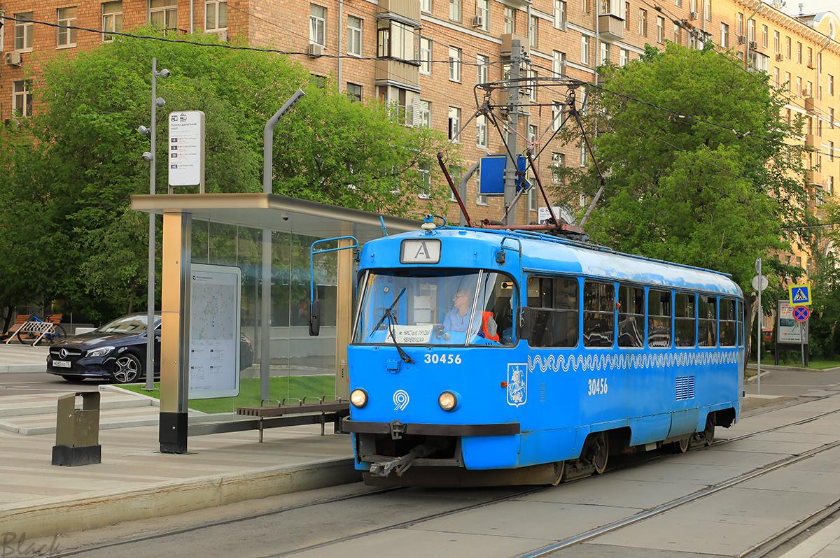 Москва. Tatra T3 (МТТЧ) №30456