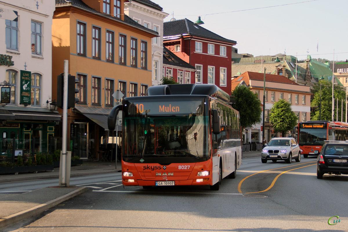 Берген. MAN A21 Lion's City NL313 CNG GA 10907