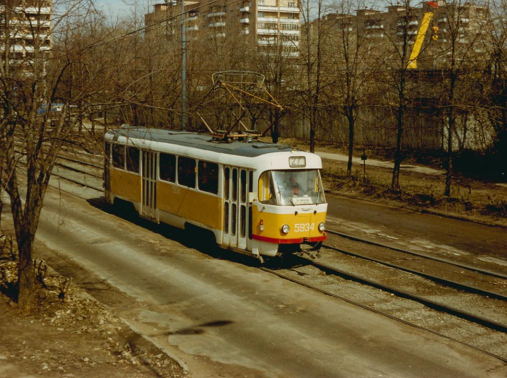 Москва. Tatra T3SU №5934