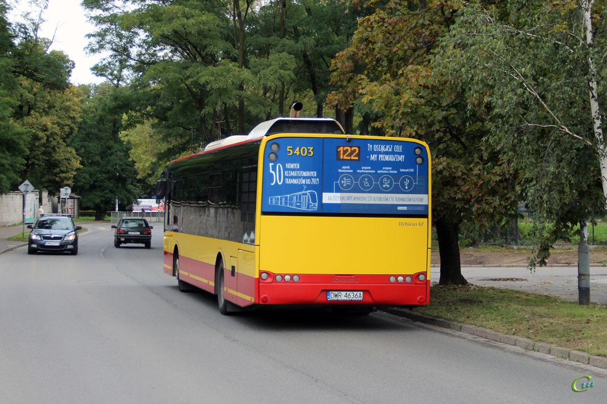 Вроцлав. Solaris Urbino 12 DWR 4636A