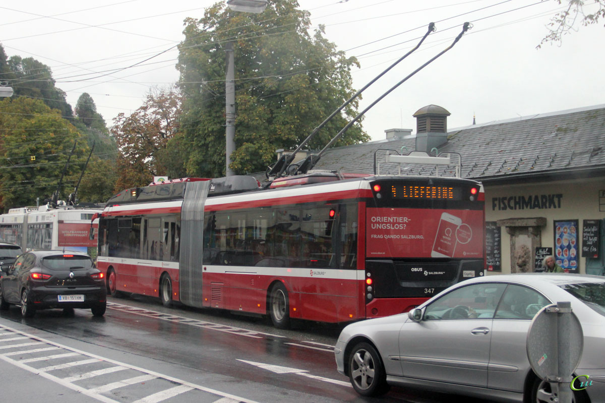 Зальцбург. Solaris Trollino 18 AC MetroStyle №347