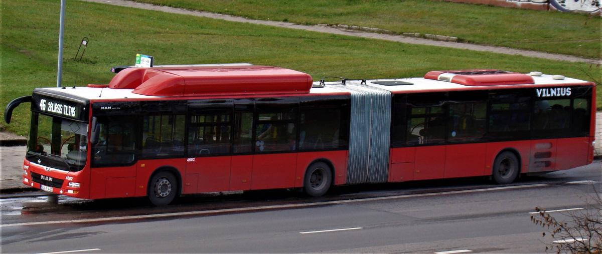 Вильнюс. MAN A23 Lion's City G NG313 CNG LNJ 407