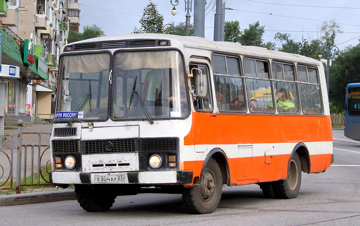 Хабаровск. ПАЗ-3205 х304ау