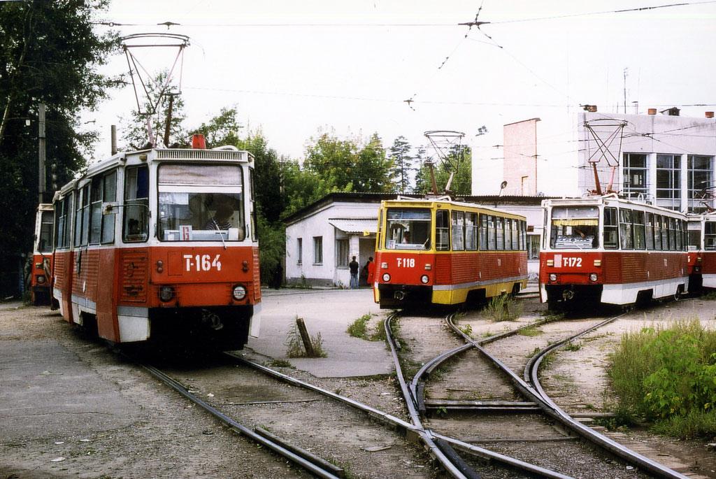 Ангарск. 71-605 (КТМ-5) №118, 71-605А (КТМ-5А) №164, 71-605А (КТМ-5А) №166, 71-605А (КТМ-5А) №172, 71-605А (КТМ-5А) №174