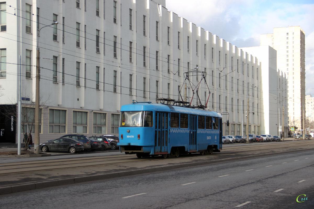 Москва. Tatra T3 (МТТА) №30470