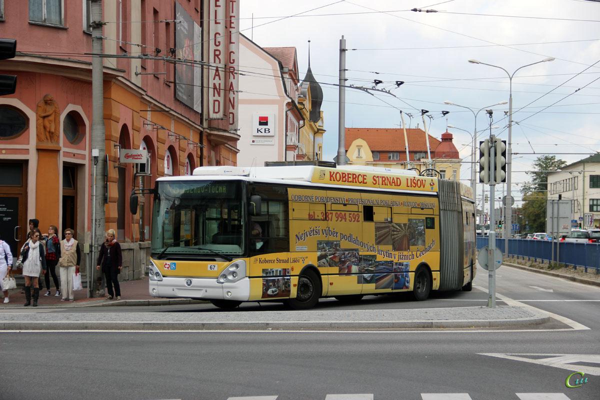 Ческе-Будеёвице. Škoda 25Tr Irisbus №67