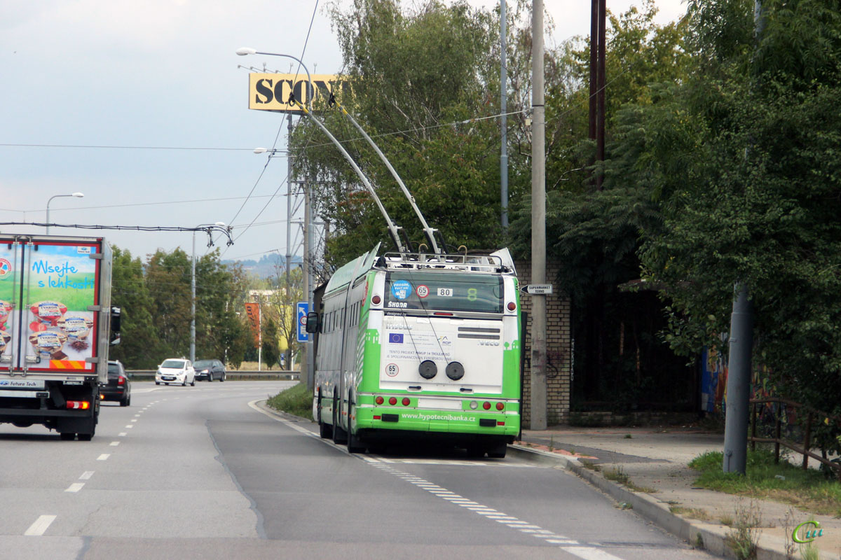Ческе-Будеёвице. Škoda 25Tr Irisbus №80