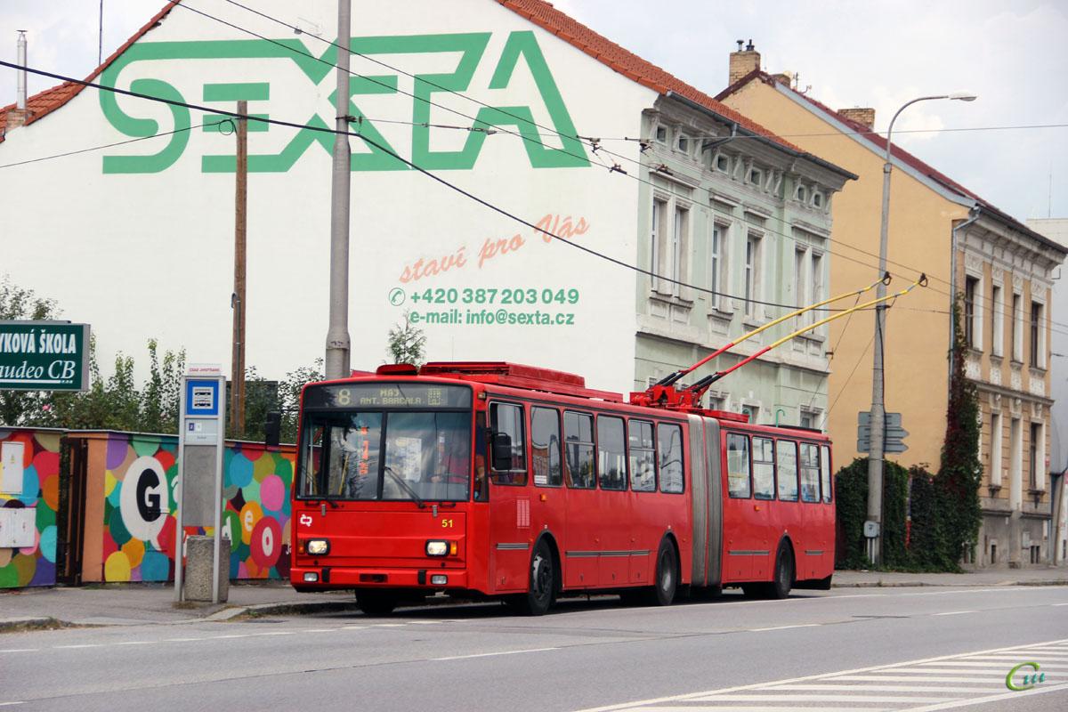 Ческе-Будеёвице. Škoda 15Tr13/7M №51